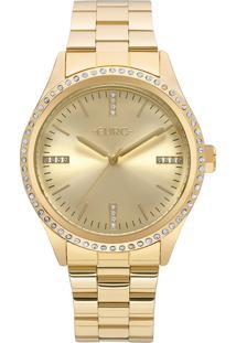 af33f91c0b1 Okulos. Relógio Feminino Euro Analógico Com Cristais Swarovski Eu2035ynt 4d  Dourado