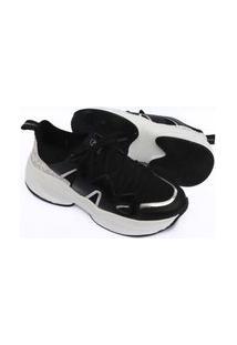 Tenis Via Marte Feminino Sneaker Chunky Slip On Sapatenis 1022 Preto
