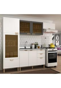 Cozinha Completa 4 Peã§As Americana Multimã³Veis 5687 Branco/Grafite - Branco/Incolor - Dafiti