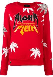 Philipp Plein Blusa De Moletom Aloha Plein - Vermelho