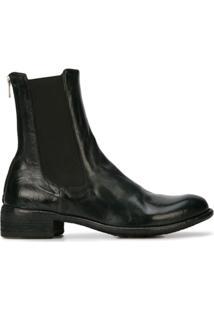 Officine Creative Ankle Boot De Couro Com Zíper Posterior - Preto