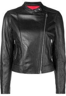 98b3434ab ... Calvin Klein Jaqueta Biker Slim - Preto