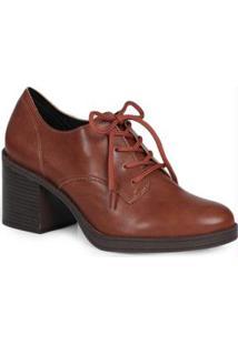 Sapato Oxford Salto Beira Rio Caramelo Caramelo
