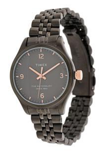 Timex Waterbury 34Mm Watch - Metálico