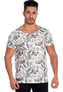 Camiseta Lucas Lunny T Shirt Floral Branca