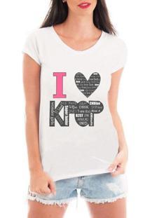 Blusa Criativa Urbana Love Kpop Blusa T Shirt - Feminino-Branco