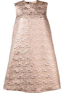 Rochas Vestido Evasê De Jacquard - Neutro