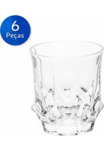 Conjunto 6 Copos Baixos De Cristal 280Ml Soho - Bohemia - Transparente