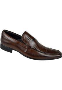 Sapato Social Couro Constantino Masculino - Masculino-Marrom
