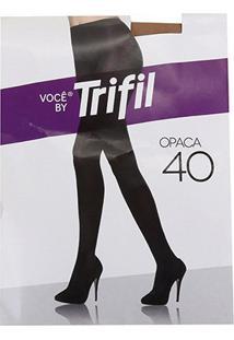 Meia Calça Trifil Opaca Fio 40 Feminina - Feminino-Marrom Claro