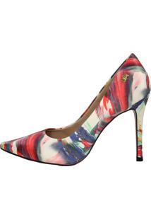 Scarpin Salto Alto Week Shoes Sedinha Colorido