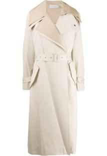 Low Classic Layered Belted Trenchcoat - Neutro