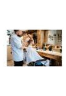 Painel Adesivo De Parede - Barbearia - Barber Shop - 868Pnp