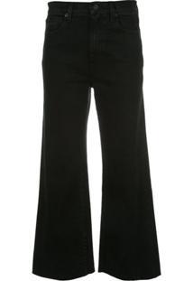 Slvrlake Calça Jeans Pantalona Cropped - Preto