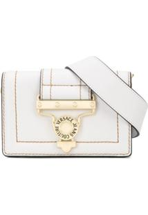 Versace Jeans Couture Logo Shoulder Bag - Branco