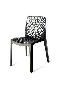 Cadeira Gruver Polipropileno Preto - 15096 Preto