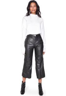 Calça Pantacourt De Leather