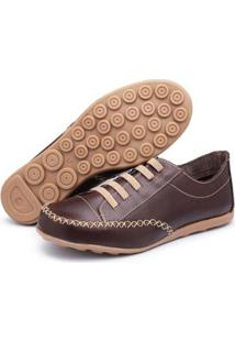 Tênis Top Franca Shoes Feminino - Feminino-Café