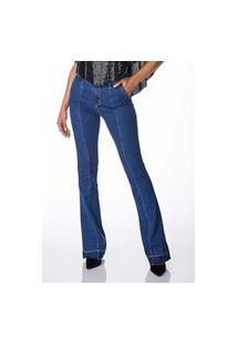 Calça Jeans Sideral Flare Com Recorte