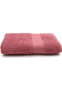 Toalha De Banho Gigante Buddemeyer Fio Penteado 90X150 Rosa