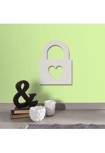 Espelho Decorativo Cadeado Coração