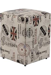 Puff Cubo Pop - Love London - Stay Puff - Creme