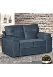 Sofá De 2 Lugares Cama Inbox Talim 1,45M Tecido Suede Velusoft Azul