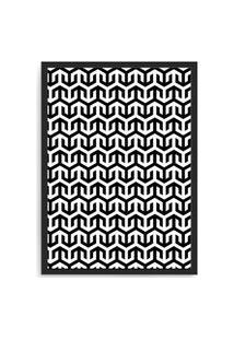 Quadro Decorativo 33X43Cm Nerderia E Lojaria Textura 05 Preto