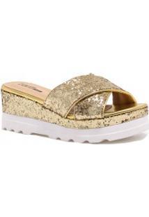 Tamanco Zariff Shoes Plataforma Glitter