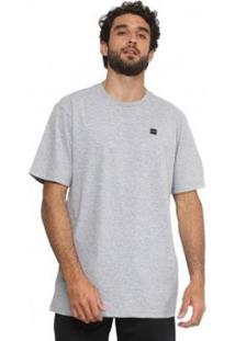 Camiseta Oakley Masculino - Masculino-Cinza