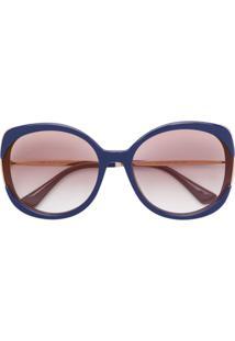 Óculos De Sol Azul Oversized feminino   Shoelover 59e1f4d14a