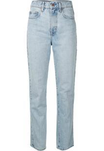Nobody Denim Calça Jeans Reta Hutton Cintura Alta - Azul