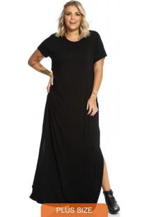 Vestido Longo Feminino Secret Glam Preto
