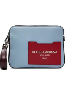 Dolce & Gabbana Bolsa Carteiro Color Block De Couro - Vermelho