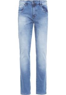 Calça Masculina Puídos - Azul