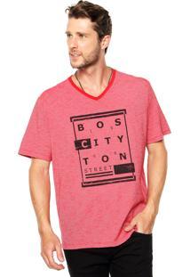 Camiseta Malwee Gola V Vermelha