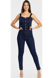 Macacão Feminino Jeans Skinny Biotipo