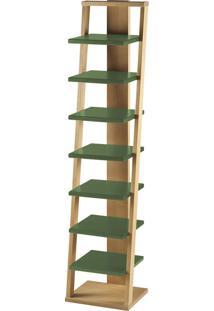 Prateleira Suspensa Stairway 1132 Palha/Verde Musgo - Maxima