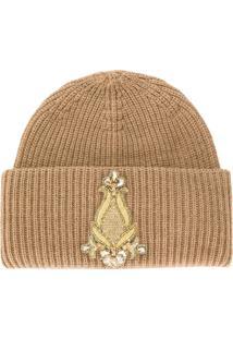 Dondup Embellished Beanie Hat - Neutro