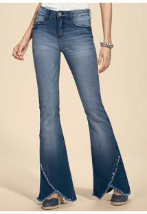 f239eb7b4 Hering. Calça Eco Flare Verão 2015 Zíper Feminina Algodão Jeans Hering  Casual Modelagem Na Edition