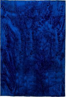 Tapete Felpudo Sala Ou Quarto Pelo Baixo 1,50X2,00: Azul