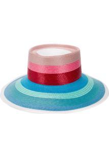 Missoni Mare Chapéu De Palha Com Contas - Azul