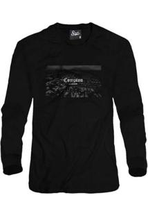 Casaco Moletom Skull Clothing Compton Population Masculino - Masculino-Preto