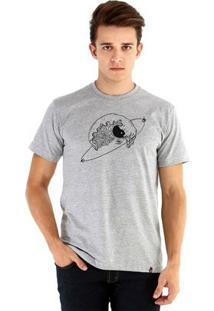 Camiseta Ouroboros Manga Curta Waveland - Masculino-Cinza