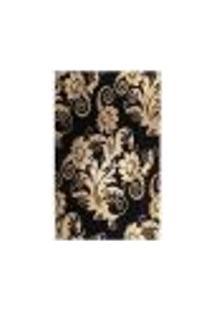 Tapete Marbella Floral Preto 198X300 Cm