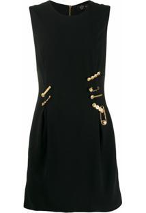 Versace Vestido Com Logo - Preto