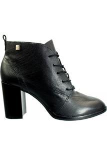 Ankle Boot Feminina Loucos E Santos Couro L51074001 - Feminino-Preto