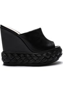 Sandália Mule Plataforma Black | Schutz