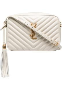 Saint Laurent Lou Quilted Crossbody Bag - Branco