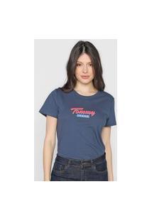 Camiseta Tommy Jeans Logo Azul-Marinho